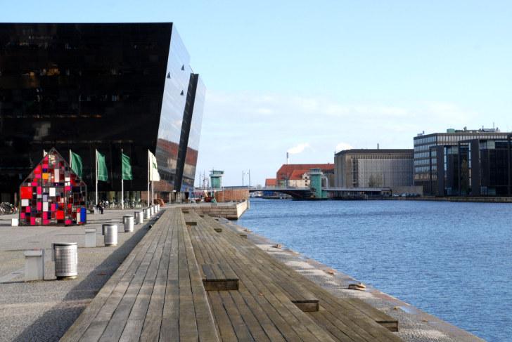 Библиотека и большая гавань. Копенгаген, 2010