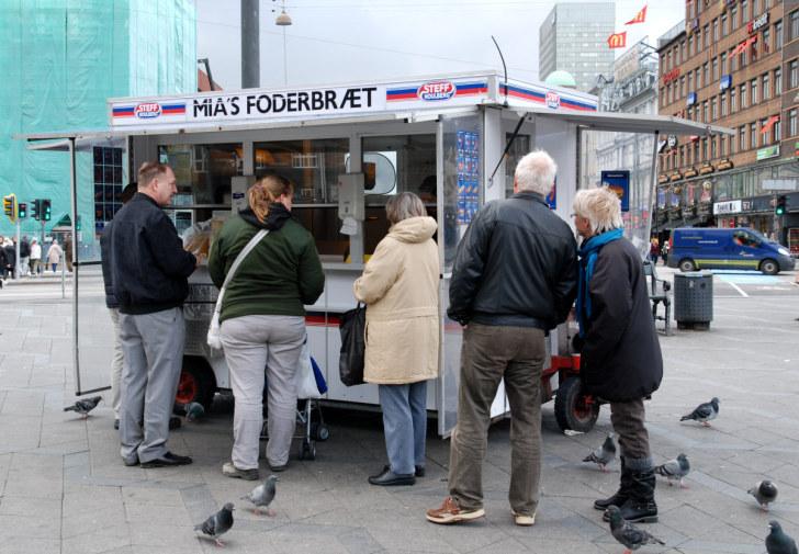Палатка с хот-догами. Копенгаген, 2010