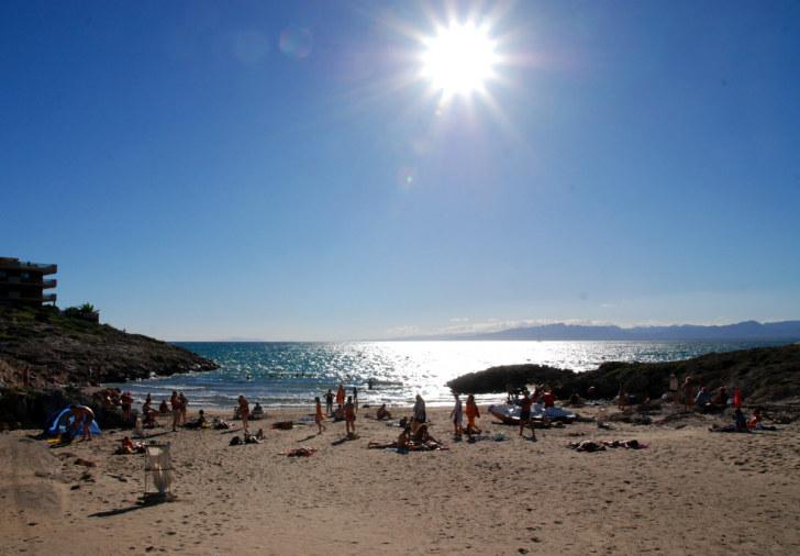 Пляж. Гостиница Best Cap Salou. Кап Салу, Испания. 2010