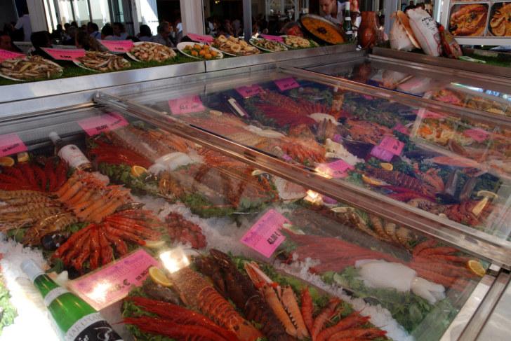Морепродукты. Ресторан Andalucia. Кальп, Испания, 2010