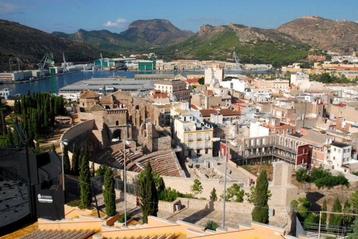 Панорама города Картахена, Испания, 2010