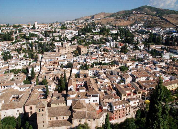 Альбайсин и Сакрамонте. Вид из Альгамбры. Гранада, 2010