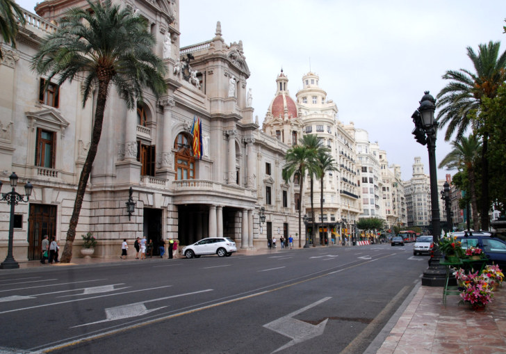 Площадь муниципалитета. Валенсия, Испания, 2010
