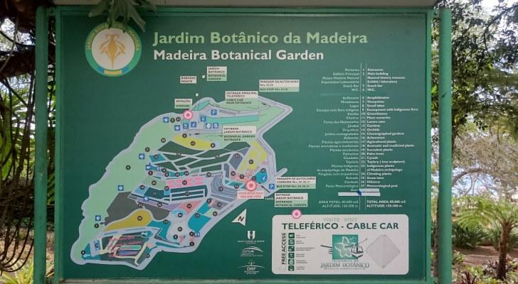 Схема ботанического сада Мадейры, Фуншал, 2016