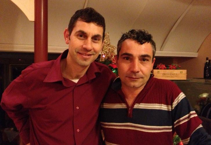 Маттео и Доменико. Совладельцы ресторана La Conchiglia. Сирмионе, 2013