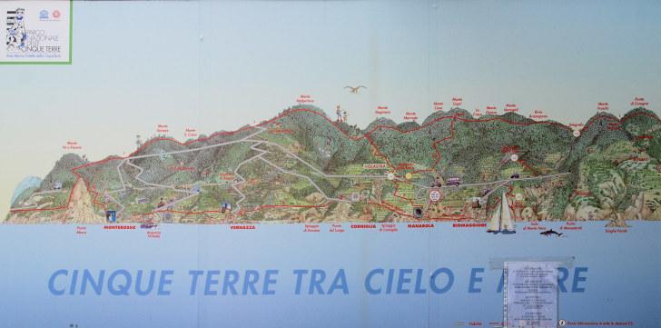 Карта, Чинкве Терре, Италия, 2011