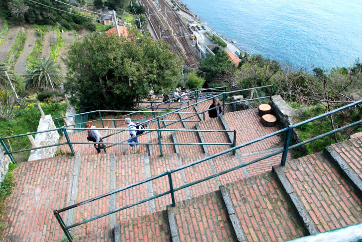 Лестница Lardarina. Корнилья, Чинкве Терре, Италия, 2011