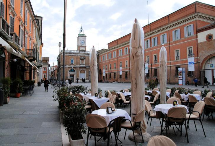 Пьяцца дель Пополо. Равенна, Италия, 2011