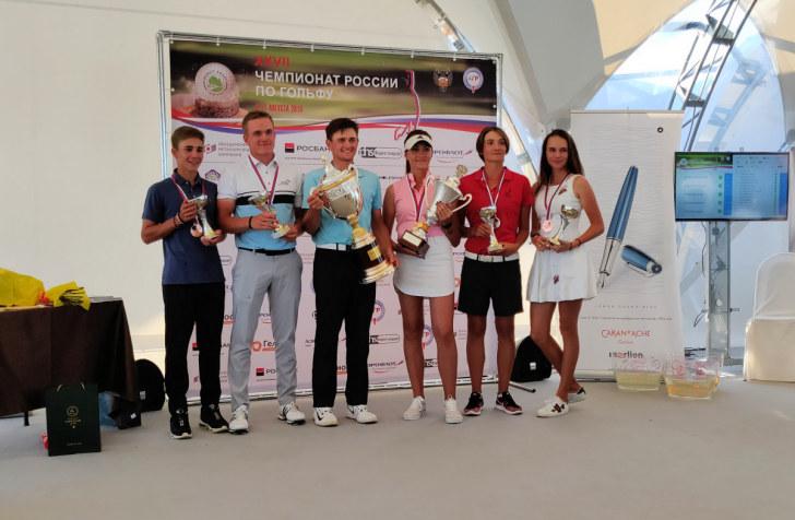 Победители и призёры ЧР по гольфу 2018