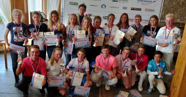 Победители и призёры. Первенство России по гольфу - 2018