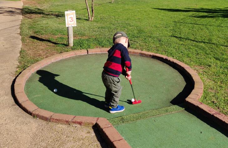 Мини-гольф в Krazy World, Алгарве, 2020