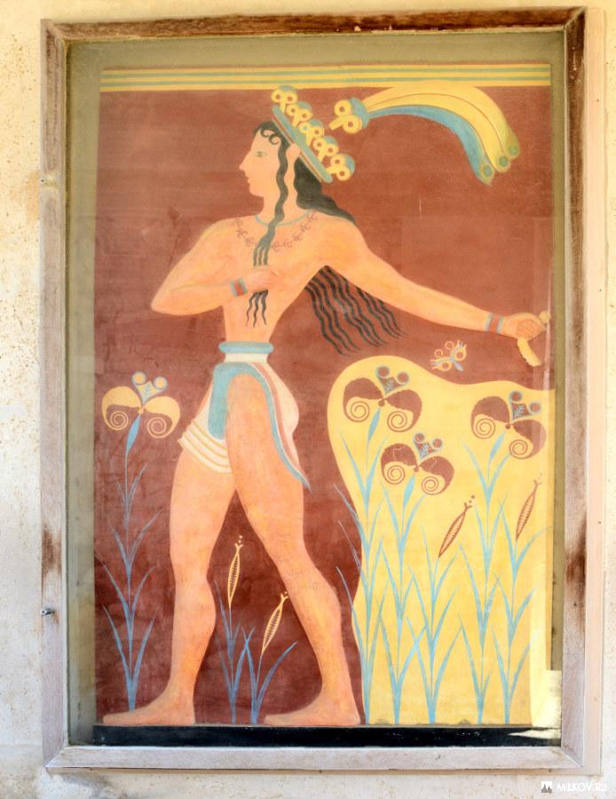 Шагающий принц, процессия, фрески из кносского дворца