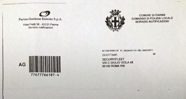 Постановление о нарушении ZTL, Парма, 2011